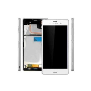 Ecran Sony Z3 Blanc Original (avec châssis)