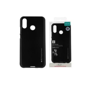 Coque silicone Huawei P20 Lite Noir (I-Jelly metal Case)