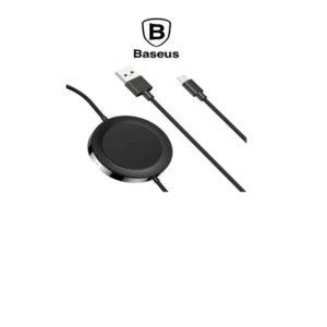 Chargeur induction BASEUS avec sortie USB + Lightning – Noir