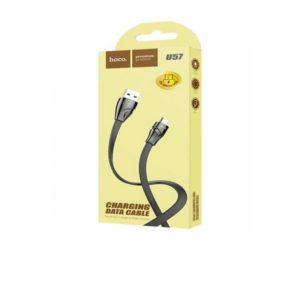 Câble Hoco U57 Twisting 1.2m Lightning – Noir