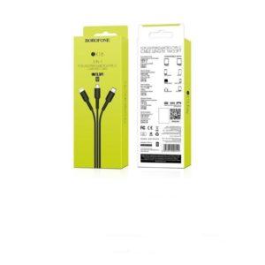 Câble 3 en 1 Lightning / Micro-USB / Type-C – 1m – Borofone (BX16) Noir